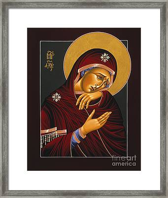 Framed Print featuring the painting Our Lady Of Sorrows 028 by William Hart McNichols