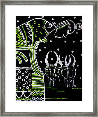 Our Lady Of South Sudan Framed Print by Gloria Ssali