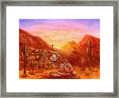 Our Lady Of The Desert Framed Print by Judy Filarecki