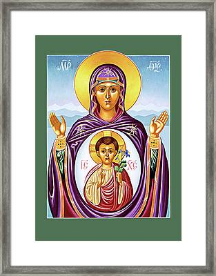 Our Lady Of The New Advent Framed Print by Munir Alawi