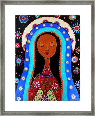 Our Lady Of Virgin Guadalupe Framed Print by Pristine Cartera Turkus