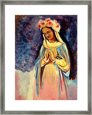 Our Lady Queen Of Mercy Framed Print