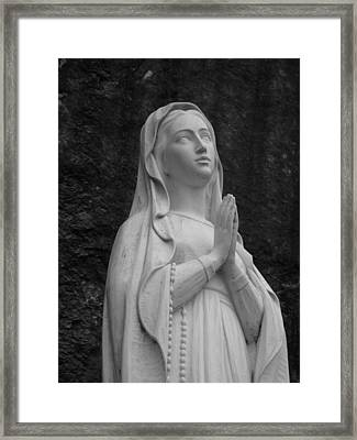 Our Lady Framed Print by Staci-Jill Burnley
