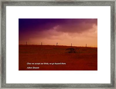 Our Limits Framed Print by Jeff Swan