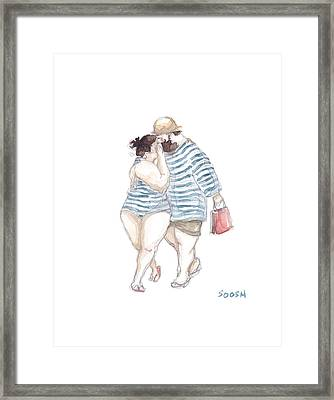Our Little Secrets Framed Print by Soosh