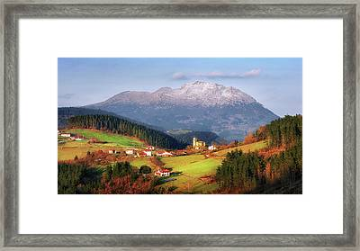 Our Little Switzerland Framed Print by Mikel Martinez de Osaba