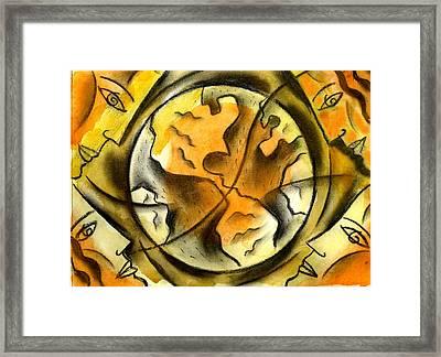 Our Little World Framed Print by Leon Zernitsky