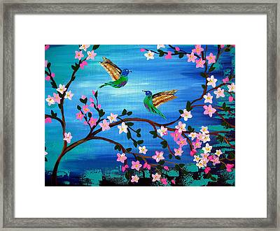 Our Lives Entwined Framed Print by Cathy Jacobs
