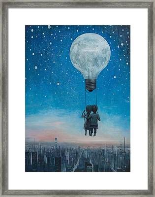 Our Love Will Light The Night Framed Print by Adrian Borda