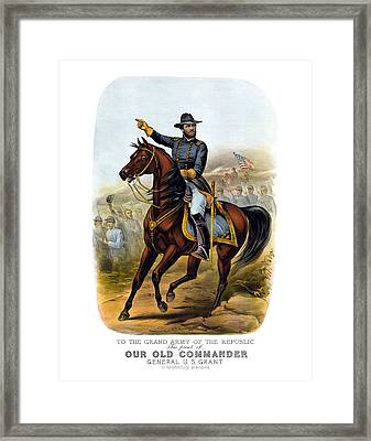 Our Old Commander - General Grant Framed Print by War Is Hell Store