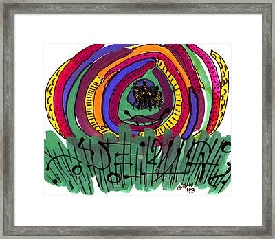 Framed Print featuring the mixed media Our Own Colorful World II by Angela L Walker