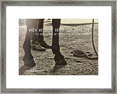 Our Partnership Quote Framed Print by JAMART Photography