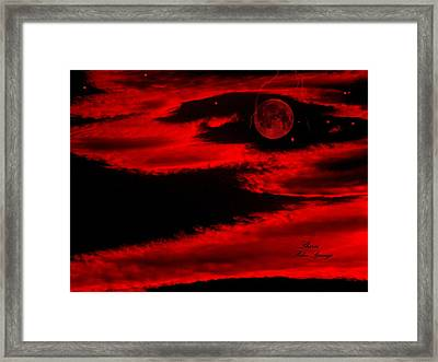 Our Planet In A Fury Framed Print by Sherri's - Of Palm Springs