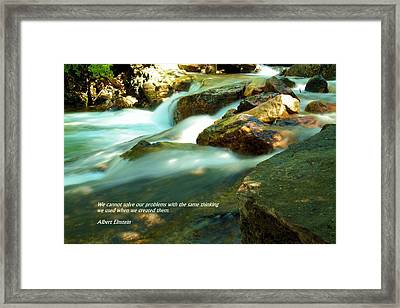 Our Problems Framed Print by Jeff Swan