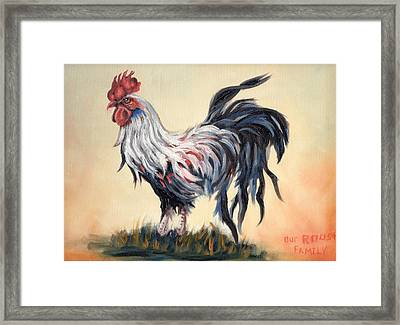 Our Rooster Family Framed Print