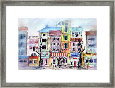 Our Side Of Town Framed Print by Tim Ross