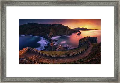 Our Small Wall Of China Framed Print by Mikel Martinez de Osaba