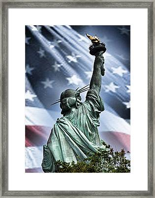 Our Statue Of Liberty Framed Print by Jim Fitzpatrick