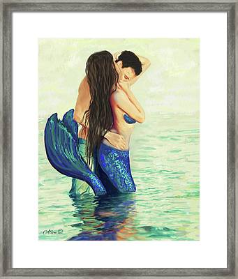 Framed Print featuring the painting Our Treasured Love by Leslie Allen