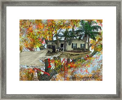 Our Tree House Framed Print by Jim Hubbard