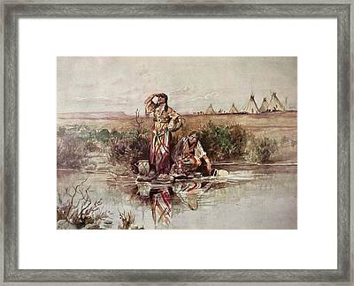 Our Warriors Return Framed Print by Charles Marion Russell