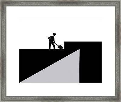 Our Work Is Never Done Framed Print