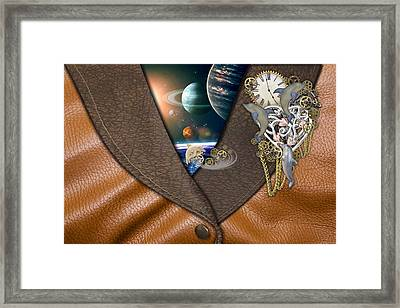Our World On Time Framed Print by Nadine May