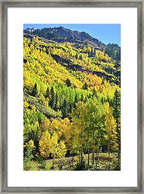 Framed Print featuring the photograph Ouray Canyon Switchbacks by Ray Mathis