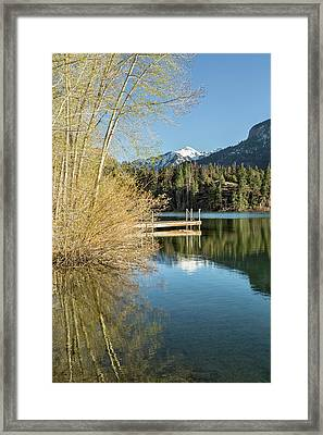 Ouray County Postcard Scene Framed Print