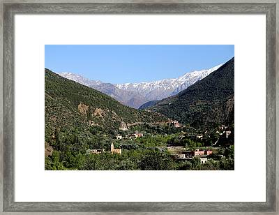 Framed Print featuring the photograph Ourika Valley 2 by Andrew Fare