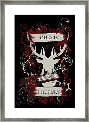 Ours Is The Fury Framed Print
