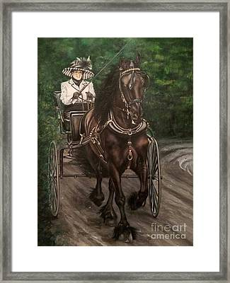 Out And About Framed Print by Rebecca Graham
