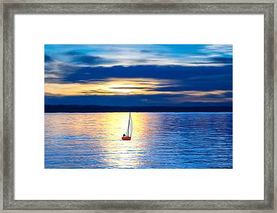 Out At Sea Framed Print