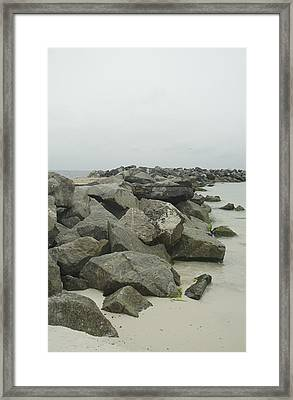Out At The Jettys Framed Print