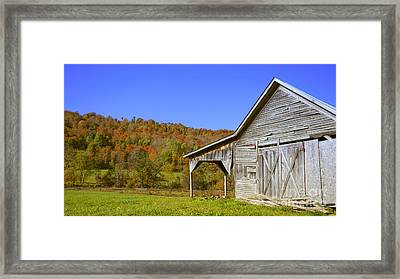 Out By The Old Barn Framed Print by Edward Fielding