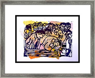 Out Cold - Pale Framed Print