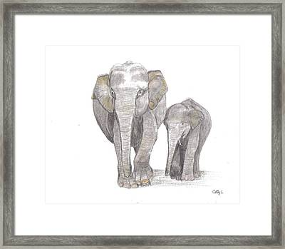 Out For  A Stroll Framed Print by Catherine Swerediuk