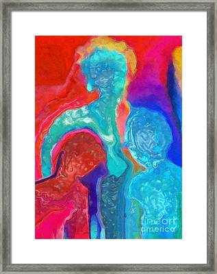Out For A Walk Framed Print by Mimo Krouzian