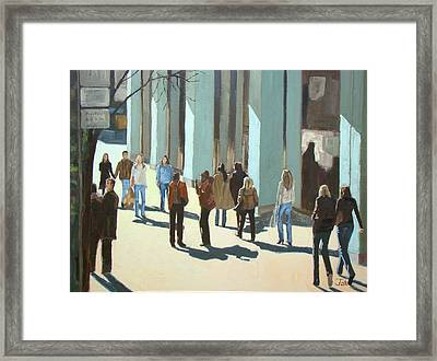 Out For A Walk With Shadows Number Two Framed Print