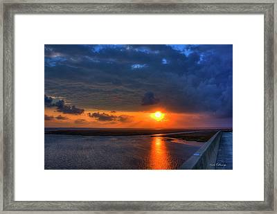 Out From Under The Storm Jekyll Island Sunset Art Framed Print