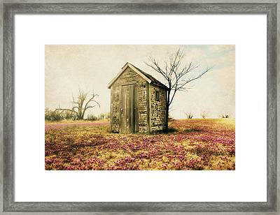 Outhouse Framed Print by Julie Hamilton