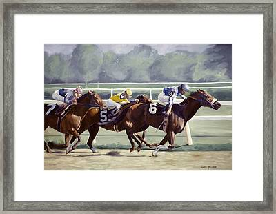 Out In Front Framed Print by Linda Tenukas