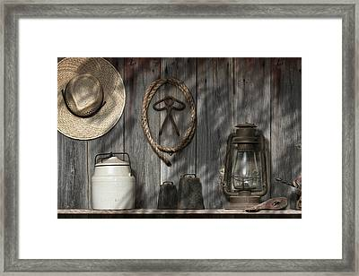 Out In The Barn IIi Framed Print by Tom Mc Nemar