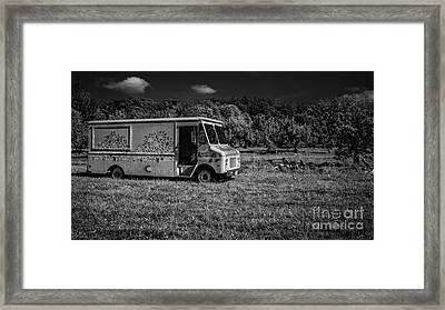 Out In The Orchard Framed Print
