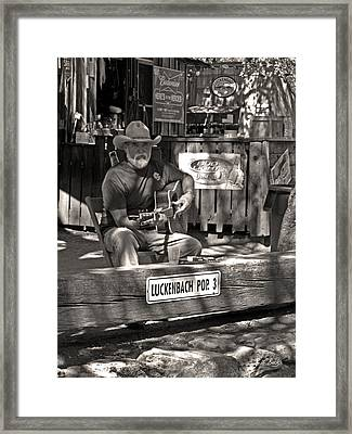Out Luckenbach Way Framed Print