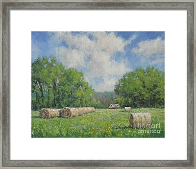 Out My Back Door Framed Print by Vickie Fears