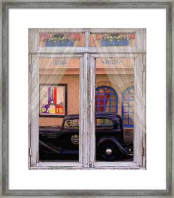 Out My Window - Paris Framed Print