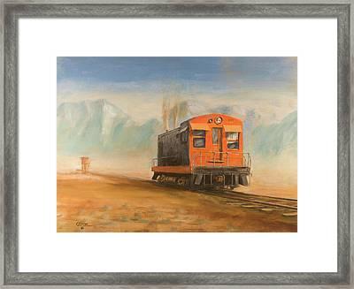 Out Near Smoke Creek Framed Print by Christopher Jenkins