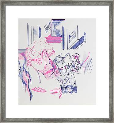 Out Of Body Framed Print by Contemporary Michael Angelo