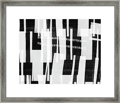 Out Of Bounds- Art By Linda Woods Framed Print by Linda Woods